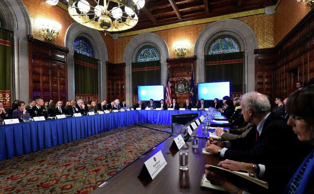 Governor Andrew Cuomo addressed numerous questions during his cabinet meeting held in the Red Room of the Capital Wednesday afternoon Dec. 17, 2014 in Albany, N.Y.     (Skip Dickstein/Times Union) Photo: SKIP DICKSTEIN / 00029897A