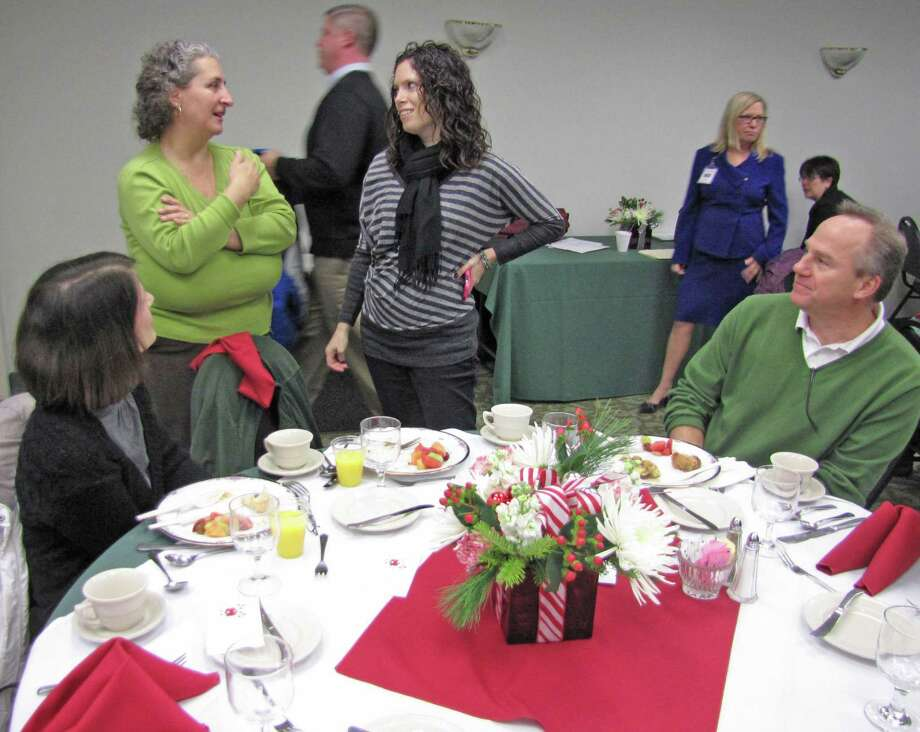 Were you Seen with industry and school experts at the Capital Region Career and Technical School on Dec. 18, 2014 to discuss how educators can better prepare students for college and the workforce? Photo: New Visions: Journalism & Media Studies