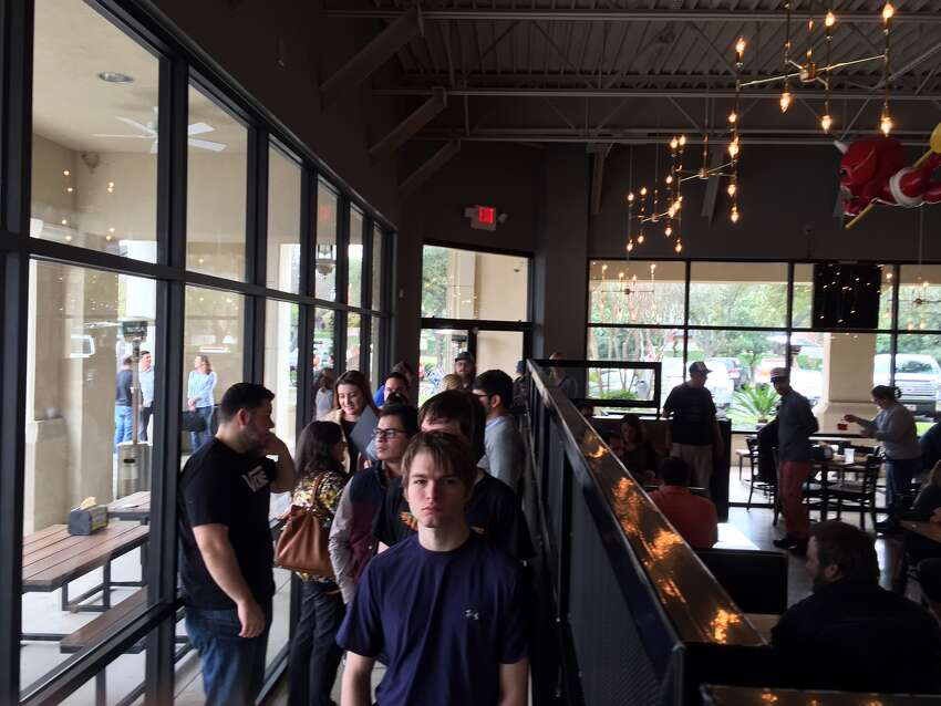 Torchy's Tacos' first location in San Antonio opened for business early Thursday at The Shops at Lincoln Heights to a large rush of people throughout the morning and lunch time hours.