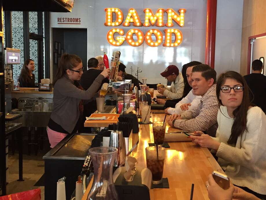 Torchy's Tacos' first location in San Antonio opened for business early Thursday at The Shops at Lincoln Heights to a large rush of people throughout the morning and lunch time hours. Photo: Tyler White/San Antonio Express-News