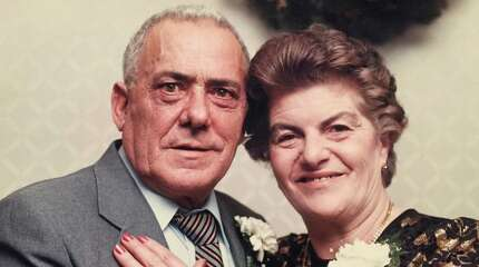 Giuseppe and Livia Fortuna celebrate their 50th anniversary on June 24, 1995. The Stamford couple died within minutes of each other on Saturday at the Smith House nursing home after 69 years of marriage.