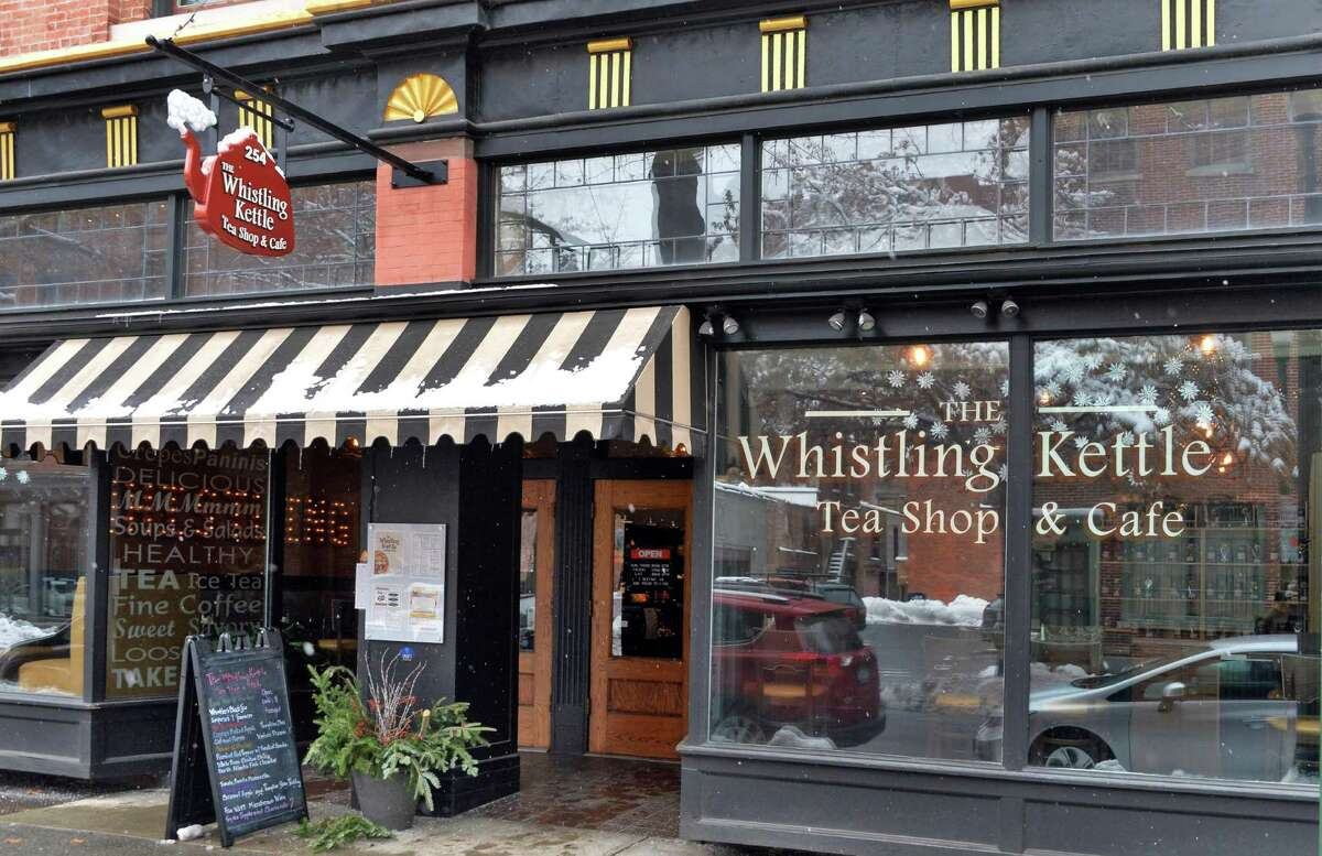 Entrance to the Whistling Kettle on Broadway Friday Dec. 12, 2014, in Troy, NY. (John Carl D'Annibale / Times Union)