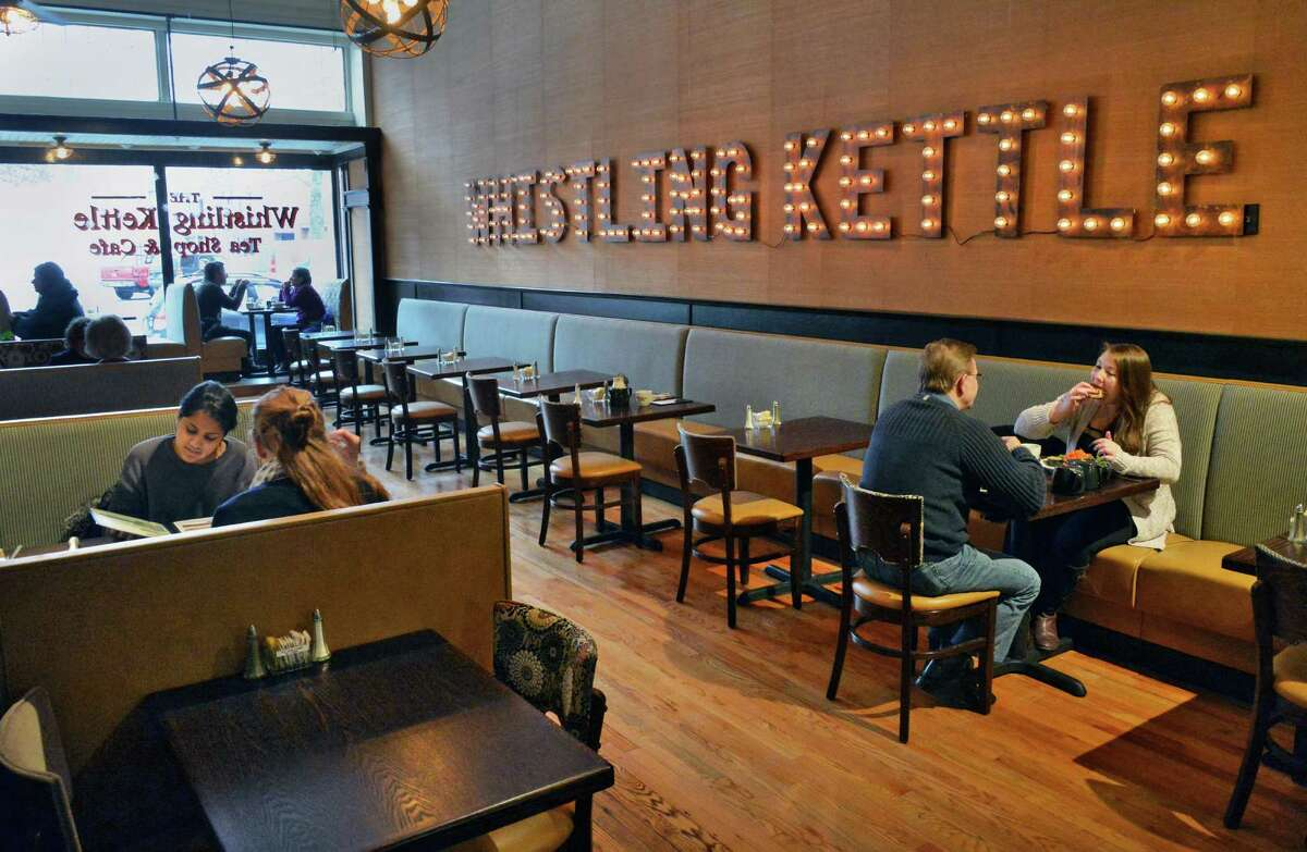 Interior of the Whistling Kettle on Broadway Friday Dec. 12, 2014, in Troy, NY. (John Carl D'Annibale / Times Union)