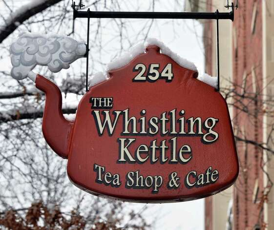 Sign above the entrance to the Whistling Kettle on Broadway Friday Dec. 12, 2014, in Troy, NY.  (John Carl D'Annibale / Times Union) Photo: John Carl D'Annibale / 00029830A