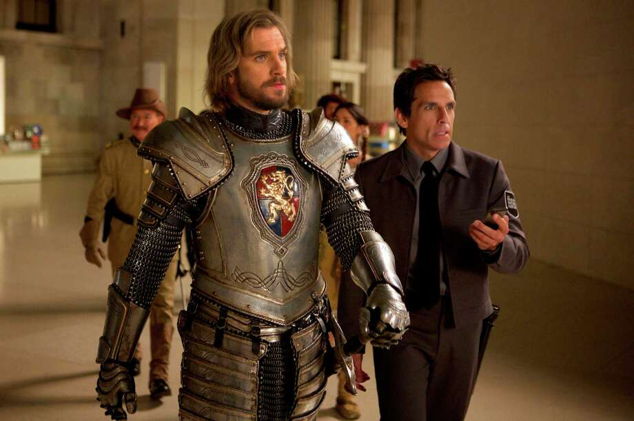 "In this image released by 20th Century Fox shows Dan Stevens, left, and Ben Stiller in a scene from ""Night at the Museum: Secret of the Tomb."" (AP Photo/20th Century Fox, Kerry Brown) ORG XMIT: NYET178 Photo: Kerry Brown / 20th Century Fox"