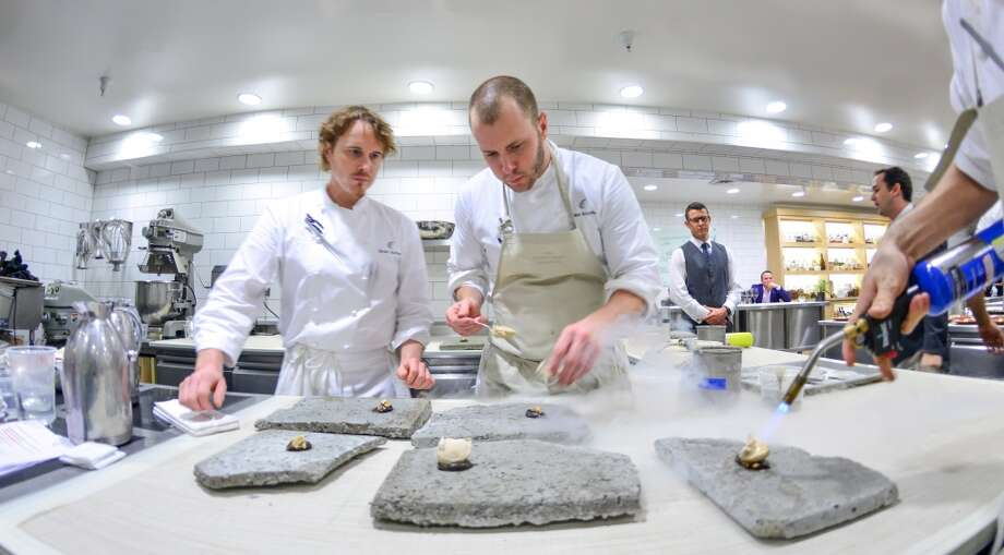 Team Alinea in the kitchen at the Restaurant at Meadowood. Photo: Bonjwing Lee Photography