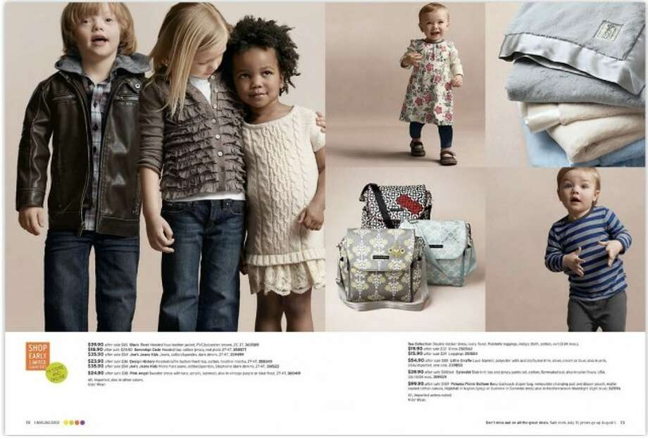 A blue-eyed Ryan appeared in a Nordstrom catalog in the summer of 2012.