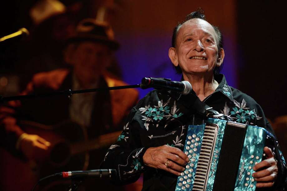Flaco Jimenez performs during the Americana Music Honors and Awards show Wednesday, Sept. 17, 2014, in Nashville. Photo: Mark Zaleski /Associated Press / FR170793 AP