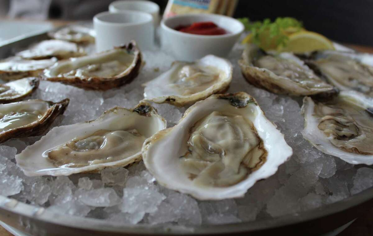 A selection of raw oysters