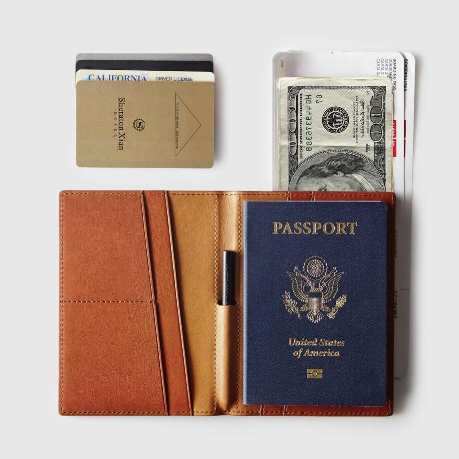 Octovo Globe wallet, $150, has six interior slots to hold money, credit cards and travel tickets, as well as two passport-size pockets to keep you organized in any form of transport. Photo: Thomas Kuoh / Thomas Kuoh / ONLINE_YES