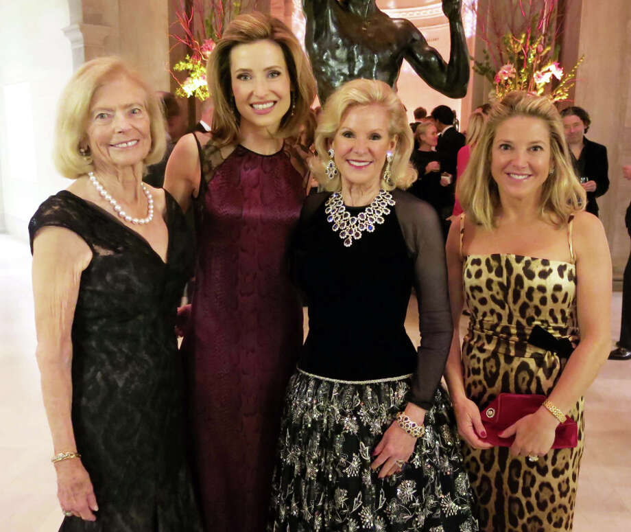 Annual Christmas party co-chairs Marion Cope (left), Kate Harbin-Clammer, Fine Arts Museums board President Dede Wilsey and Kathryn Lasater at the Legion of Honor's Elegant Evening fete. Photo: Catherine Bigelow / Special To The Chronicle / ONLINE_YES