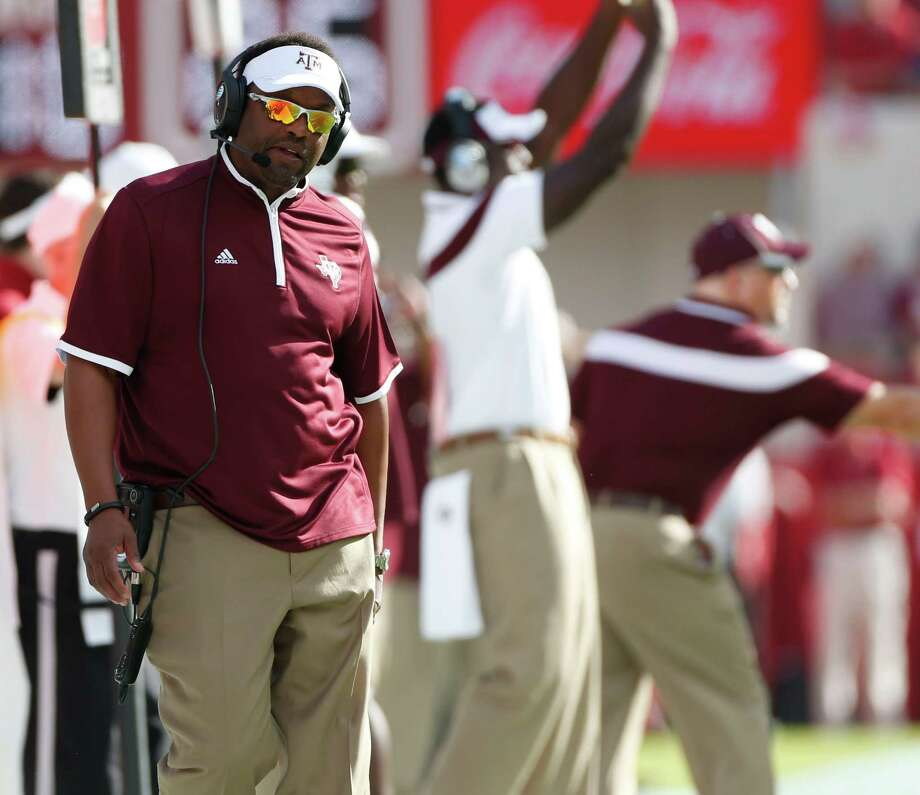 Texas A&M Aggies head coach Kevin Sumlin reacts on the sidelines during the second quarter of a college football game at Bryant-Denny Stadium, Saturday, Oct. 18, 2014, in Tuscaloosa.   ( Karen Warren / Houston Chronicle  ) Photo: Karen Warren, Staff / Houston Chronicle / © 2014 Houston Chronicle