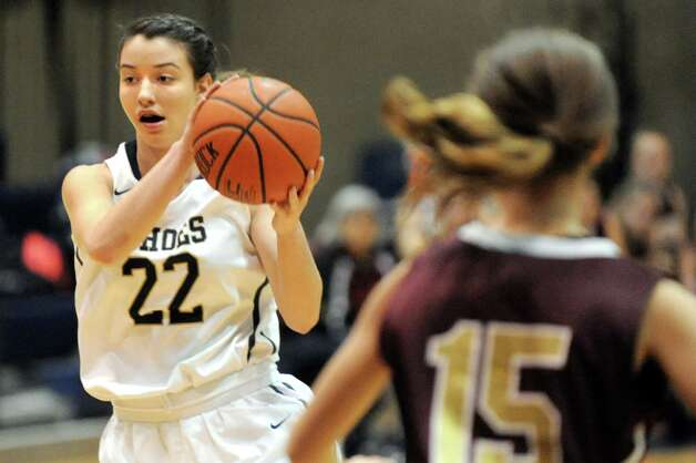 Cohoes' Nerea Brajac takes control of the ball during their basketball game against Fonda on Thursday Dec. 18, 2014, at Cohoes High in Cohoes, N.Y. (Cindy Schultz / Times Union) Photo: Cindy Schultz / 00029920A