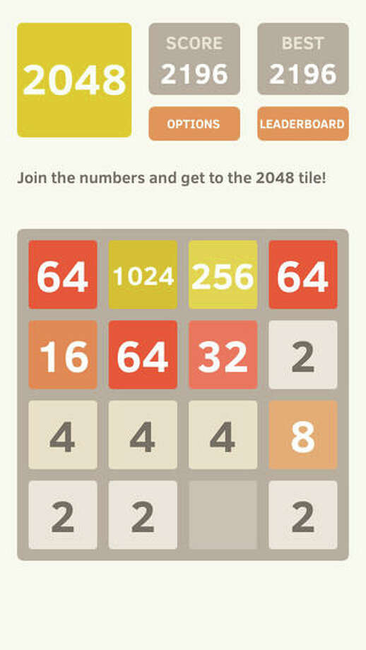 Free apps10. 2048, by Ketchapp (Free)This addictive doubling game challenges players to combine numbers until they earn a 2048 tile. When two tiles with the same number touch, they merge into one with their previous values combined. Photo: Ketchapp