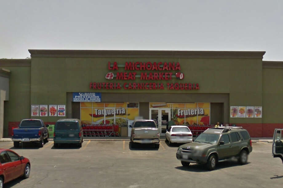 "La Michoacana Meat Market:1814 W. W. White Road South, San Antonio, Texas 78220Date: 04/04/2017 Score: 69Highlights: Food handlers ""did not properly wash their hands before putting on gloves to handle ready-to-eat food items, a wet mop was stored in a hand washing sink next to the ice machine, rodent droppings seen in the establishment, employees ""are not properly sanitizing washed items,"" inside of the ice machine needs cleaning. Photo: Google Street View/Maps"