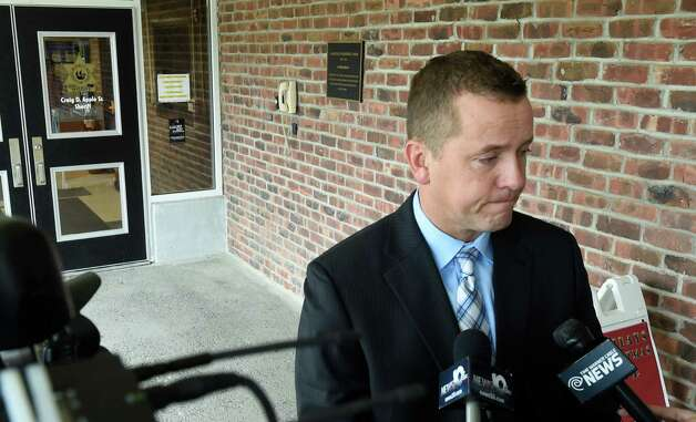 Albany County Sheriff Craig Apple shows the strain of the investigation in to the death of 5 year old Kenneth White Friday morning Dec. 19, 2014, as he is questioned by media in front of the substation in Clarksville, N.Y.   (Skip Dickstein/Times Union) Photo: SKIP DICKSTEIN / 00029922A