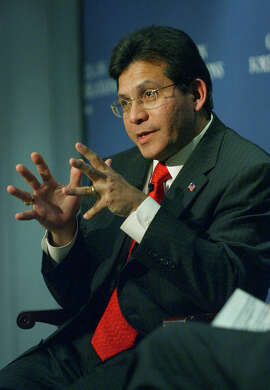 U.S. Attorney General Alberto Gonzalez speaks during a discussion and question-and-answer period during a reception at the Council on Foreign Relations, Thursday, Dec. 1, 2005, in New York.  (AP Photo/Jennifer Szymaszek)                                  Ran on: 12-03-2005 Attorney General Alberto Gonzales said it is not necessarily wrong to overrule staff.
