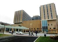Bridgeport Hospital in Bridgeport, Conn.  Connecticut hospitals are among 721 nationwide that will have their federal Medicare payments cut for having high rates of infections and other patient injuries. Hospitals losing funding include Danbury, Norwalk, Bridgeport, New Haven, and Stamford.Medicare has now issued financial penalties for these and more than 700 others nationwide.