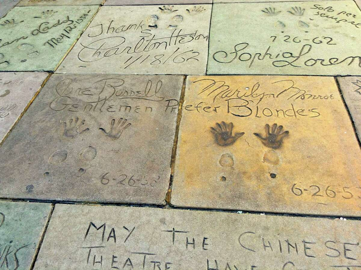 Marilyn Monroe's handprints at TCL Chinese Theatre, Hollywood