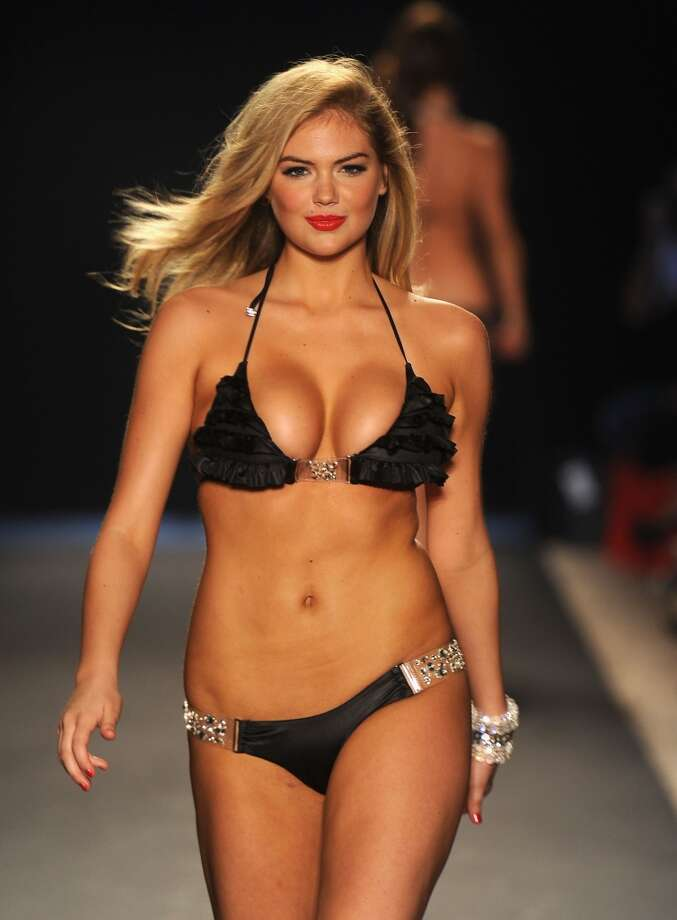 Kate Upton walks the runway at the Beach Bunny Swimwear show during Merecdes-Benz Fashion Week Swim 2012 at The Raleigh on July 15, 2011 in Miami Beach, Florida.  (Photo by Frazer Harrison/Getty Images for Beach Bunny) Photo: Frazer Harrison