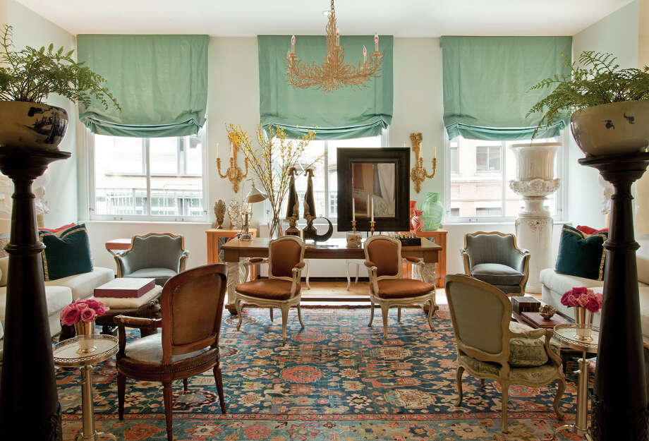 From p. 108: CouturierâÄôs living room is a study in symmetry, where furniture