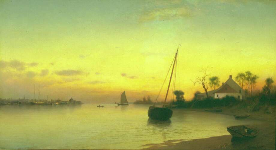 "Francis A. Silva's ""Low Tide,"" an 1880 oil on canvas, 19 1/2 x 35 1/2 in. Photo: Contributed Photo / Greenwich Time Contributed"