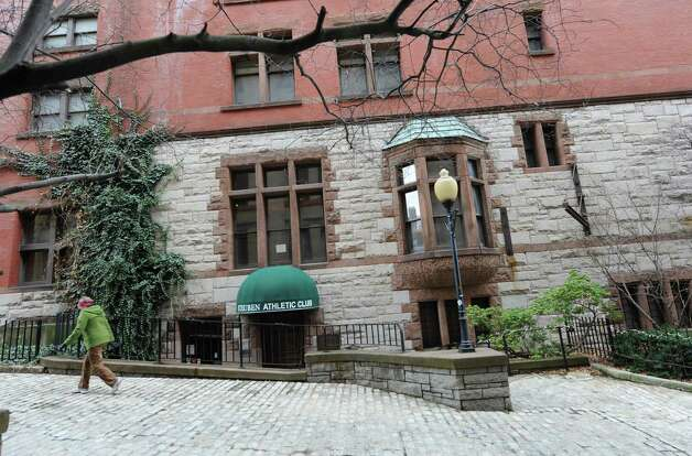 Exterior of the Steuben Athletic Club on Thursday Dec. 18, 2014 in Albany, N.Y. The owner of 1 Steuben Place owes nearly $1 million in tax debt to Albany County. (Lori Van Buren / Times Union) Photo: Lori Van Buren / 00029924A