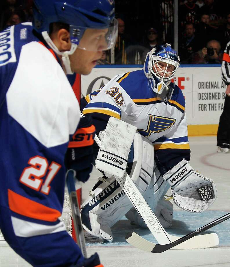 Goalie Martin Brodeur's so-so results mean the Blues might not keep him around when Brian Elliott returns from injury. Photo: Bruce Bennett / Getty Images / 2014 Getty Images