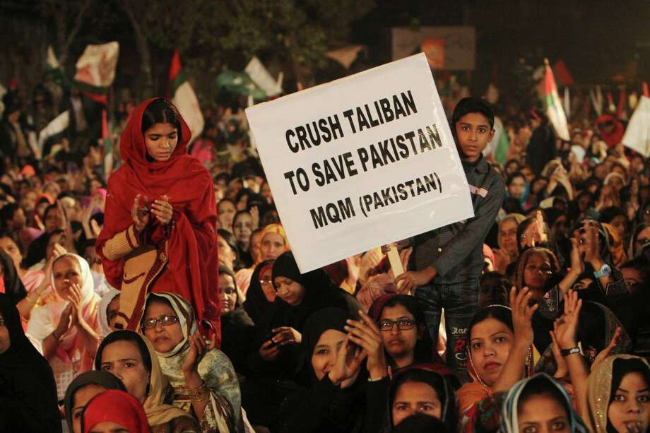 Protesters express solidarity with families of students killed in a Taliban attack in Peshawar. Photo: Fareed Khan / Associated Press / AP