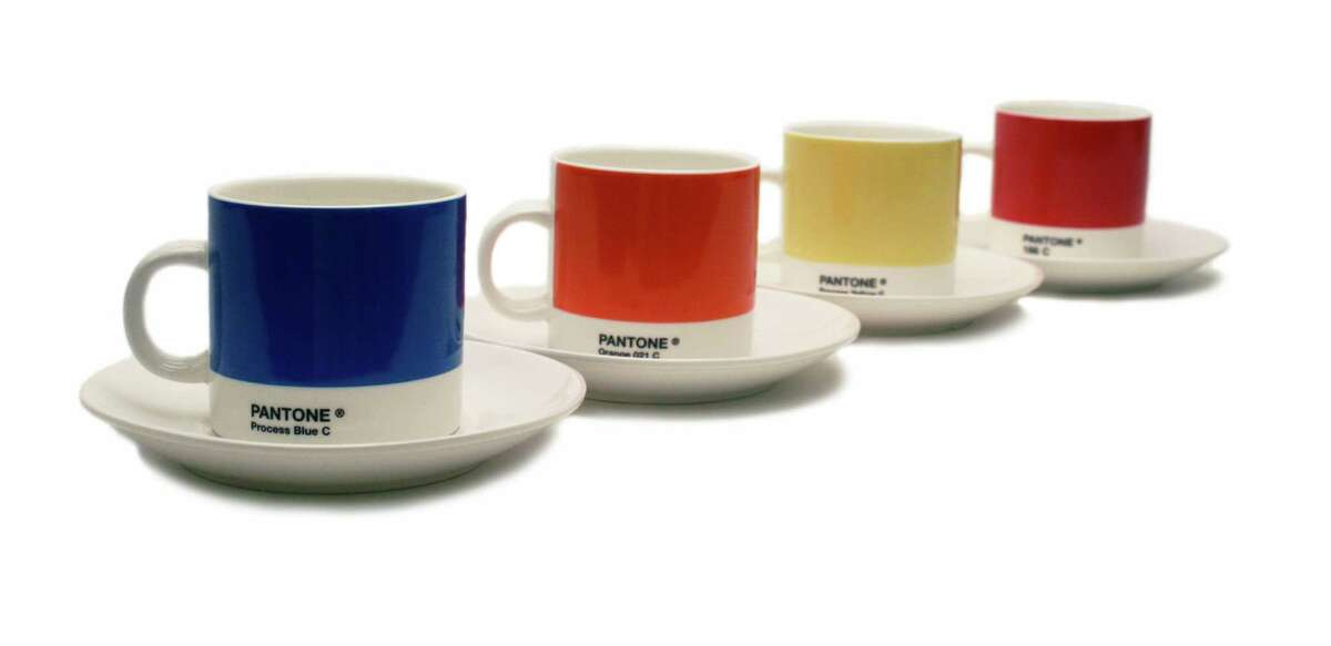Pantone espresso set, $48 for four cups and saucers at the Museum of Fine Arts, Houston