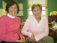 Phyllis Allen, left, and Kathy Gollow will step down Dec. 31, 2014 from their longtime roles in the Washington First Selectman's office. December 2014