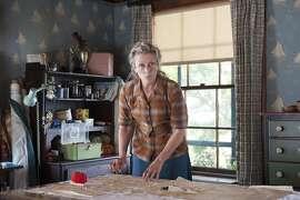 "Golden Globe-nominated Frances McDormand in TV film ""Olive Kitteridge."""