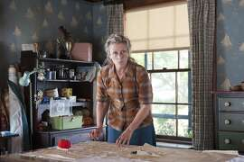 """In this image released by HBO, Frances McDormand appears in a scene from """"Olive Kitteridge."""" McDormand was nominated for a Golden Globe for best actress in a TV movie or mini-series for her role on Thursday, Dec. 11, 2014. The 72nd annual Golden Globe awards will air on NBC on Sunday, Jan. 11. (AP Photo/HBO, Jojo Whilden)"""