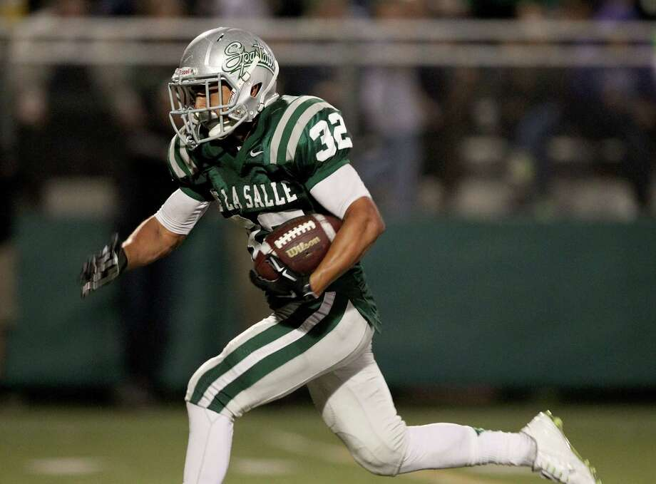 De La Salle junior Andrew Hernandez leads the Spartans with 27 touchdowns. He has gained 1,632 yards on the ground and has eight 100-yard rushing games. Photo: Dennis Lee / MaxPreps / 2014, Dennis Lee