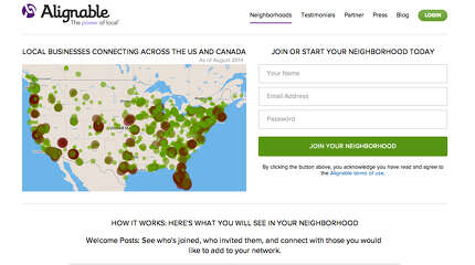 A new social networking site is gaining traction in the local business community.  The creation of Boston area residents Eric Groves and Venkat Krishnamurthy, Alignable was first launched in beta form in late 2013, but wasn't opened to the public until January