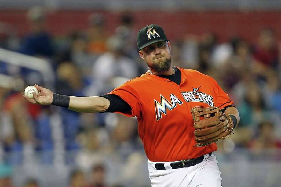 Casey McGehee, a 32-year-old who attended Soquel High near Santa Cruz, hit .287 with 76 RBIs for the Marlins last season. Photo: Eliot J. Schechter / Getty Images / ONLINE_CHECK