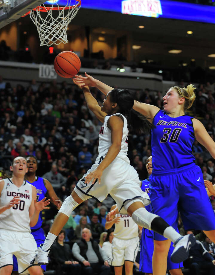 Women's baskeball action between UConn and DePaul at the Webster Bank Arena in Bridgeport on Friday Dec. 19, 2014. Photo: Christian Abraham / Connecticut Post
