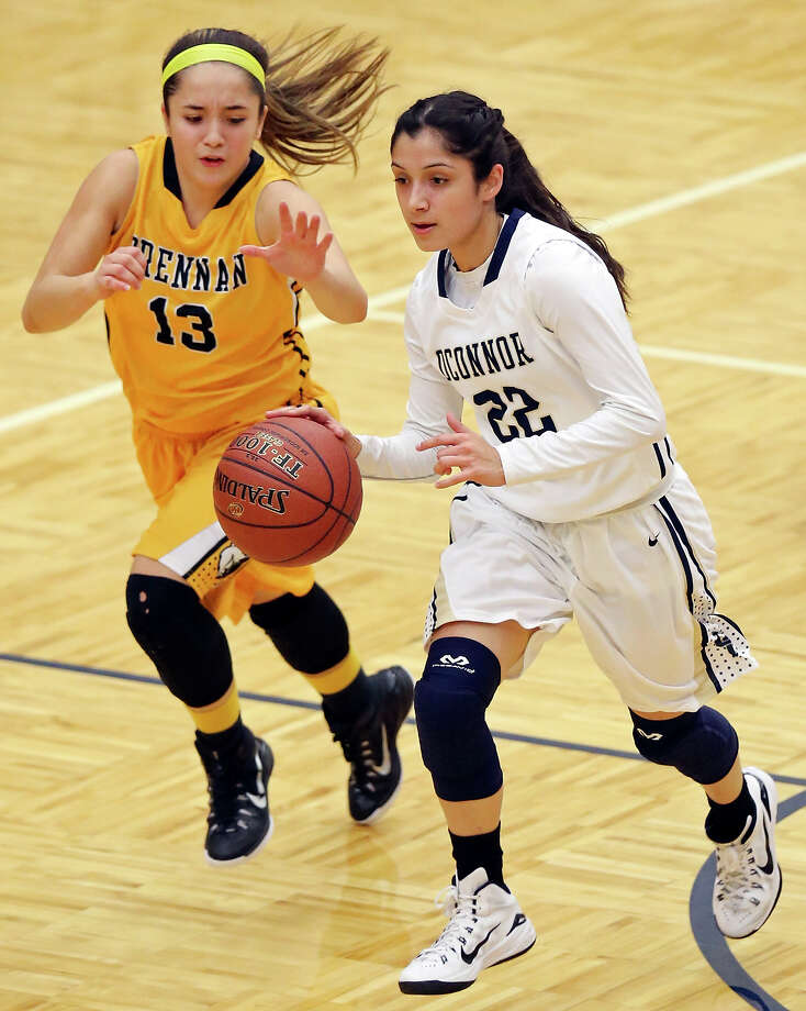 Brennan's Megan Valdez impressed Southeastern Louisiana University coaches enough during a basketball camp to earn a scholarship offer. Photo: Edward A. Ornelas /San Antonio Express-News / © 2014 San Antonio Express-News