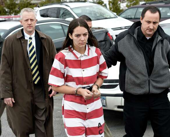 Tiffany VanAlstyne, 19, is escorted out of Knox Town Court Friday afternoon, Dec. 19, 2014, in Knox, N.Y., where she was arraigned on 2nd degree murder charges for the alleged strangulation death of her cousin, 5-year-old Kenneth White.  (Skip Dickstein/Times Union archive) Photo: SKIP DICKSTEIN