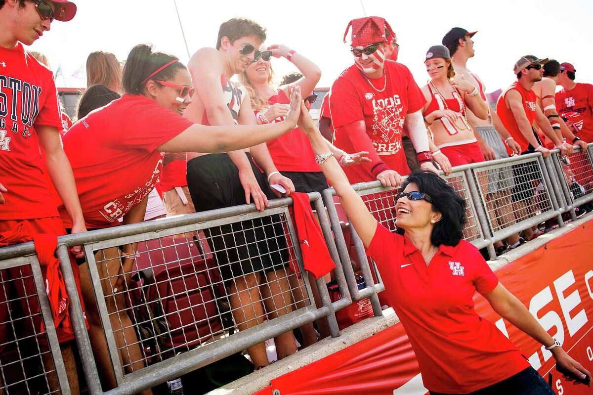 University of Houston President and Chancellor Renu Khator has demonstrated a keen ability to articulate and sustain the university's dual focus.
