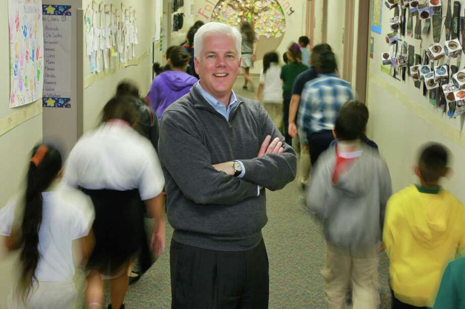 Duncan Klussmann, superintendent of the Spring Branch Independent School District, has made his mark on the Houston-area education landscape with his innovative and collaborative style of leadership.  Photo: Gary Fountain, Freelance / Copyright 2014 by Gary Fountain