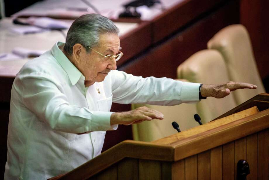 """Just as we have never proposed to the United States to change its political system,"" said Cuban President Raul Castro, ""we will demand respect for ours."" Photo: ADALBERTO ROQUE / AFP/Getty Images / AFP"