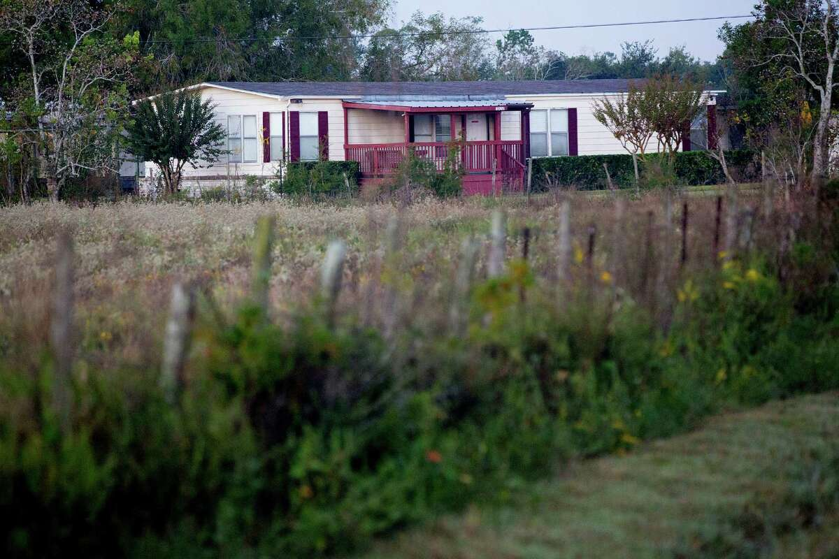 """This mobile home is the main office of the Shiloh Treatment Center in Manvel. The center has 43 beds, 32 of them set aside for immigrant children. Its website says it specializes in treating """"children and youth with behavioral and emotional problems."""""""