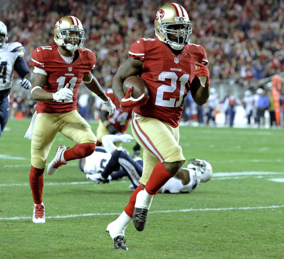 Frank Gore's best rushing marks of the year, a 52-yard score and 158-yard game, came in Week 16. Photo: Michael Macor / The Chronicle / ONLINE_YES