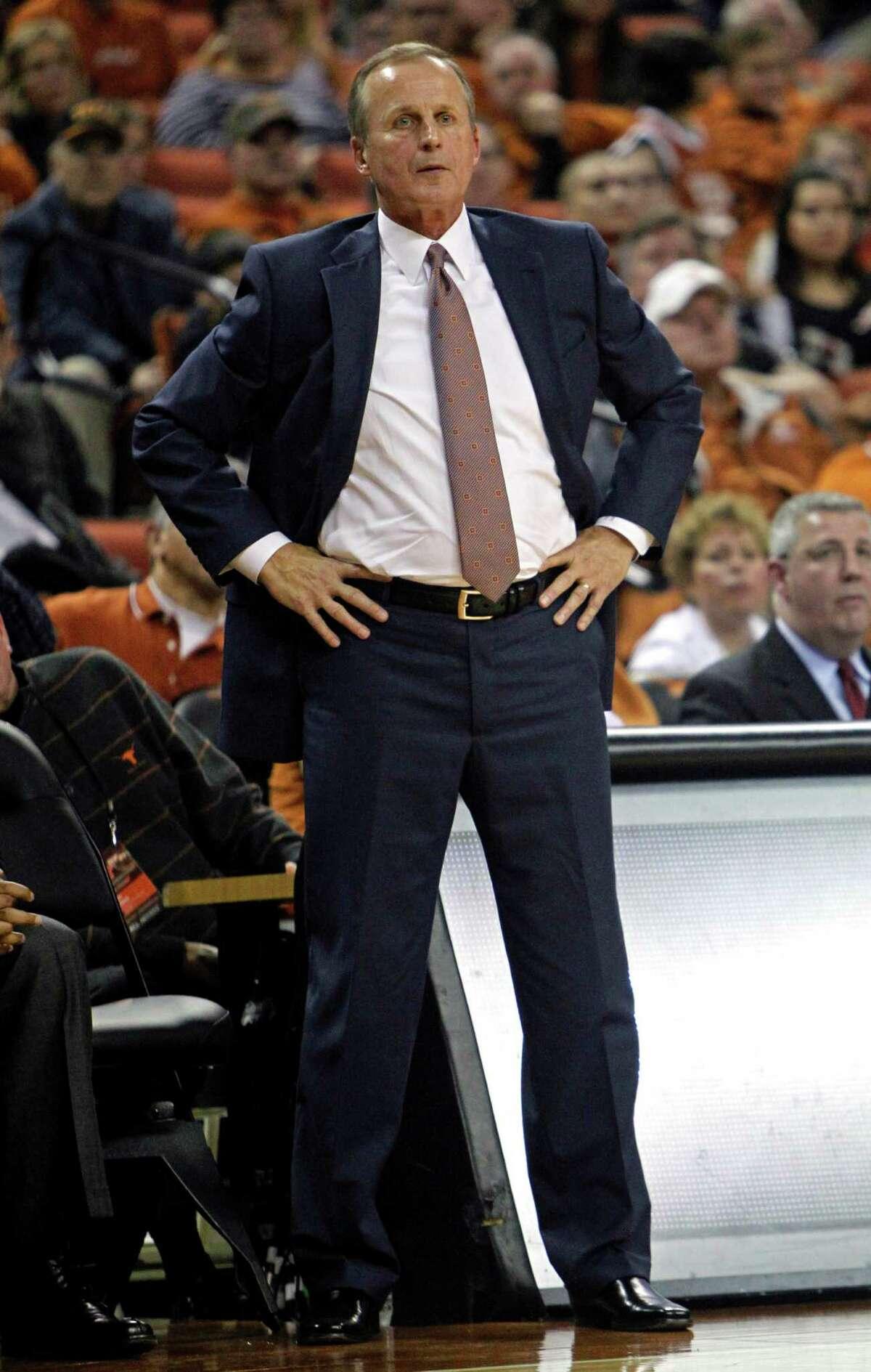 Texas head coach Rick Barnes watches his team during the second half of an NCAA college basketball game against Long Beach State, Saturday, Dec. 20, 2014, in Austin, Texas. (AP Photo/Michael Thomas)