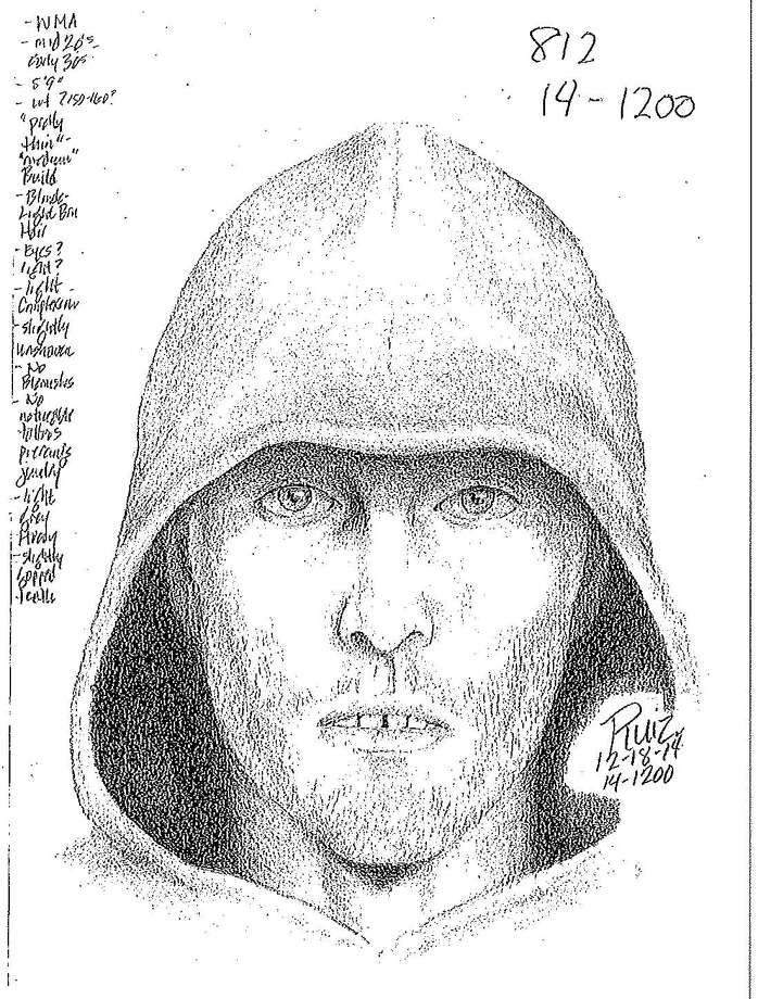 Authorities at UC Santa Cruz released a sketch of a knife-wielding kidnapping suspect who was described as a white man in his 20s, about 5-foot-9 and weighing around 155 pounds. He has blond or light brown hair. Photo: UC Santa Cruz Police / ONLINE_YES