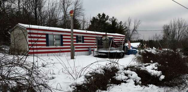 994 Thacher Park Road, the scene of the alleged murder of 5 year old Kenneth White Friday afternoon Dec. 19, 2014 in Knox, N.Y. On Saturday, Knox town officials declared the trailer unsafe to live in.  (Skip Dickstein/Times Union) Photo: SKIP DICKSTEIN