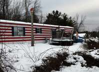 994 Thacher Park Road, the scene of the alleged murder of 5 year old Kenneth White Friday afternoon Dec. 19, 2014 in Knox, N.Y. On Saturday, Knox town officials declared the trailer unsafe to live in.  (Skip Dickstein/Times Union)
