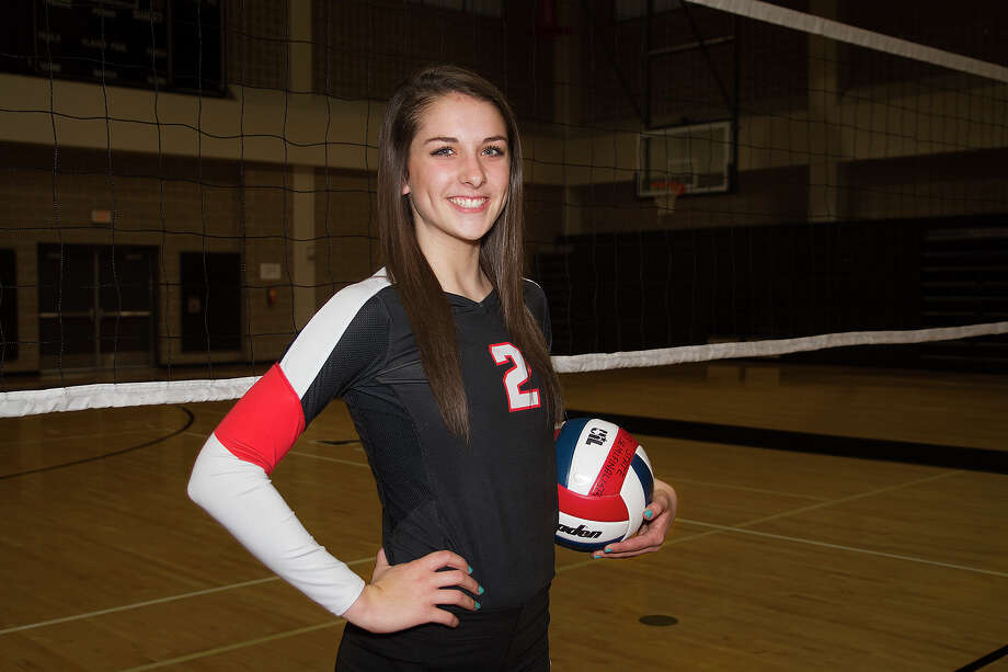 Karley York, a senior setter from Winston Churchill High School is the 2014 Express-News All-Area Player of the Year for volleyball. Photo: Alma E. Hernandez /For The Express-News