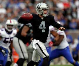Derek Carr has started every game and has made few mistakes as a rookie quarterback.